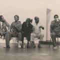 Durban workers cultural local performing play 'Umkumbane', 1986 (photo : Rafs-Mayet)