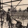 Madliginyoka Nhlamzi, Mandela welcome rally ,Kings Park Stadium, Durban ,1990 (photo - Myron Peters)
