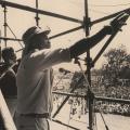 Bongani Zindela ,Mandela welcome rally , Kings Park Stadium, Durban ,1990 (photo - Myron Peters)