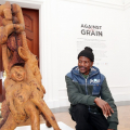 Against the Grain - Shepard Mbanya, ISANG14 August 2013 (photo: C.Beyer Copyright Iziko Museums)