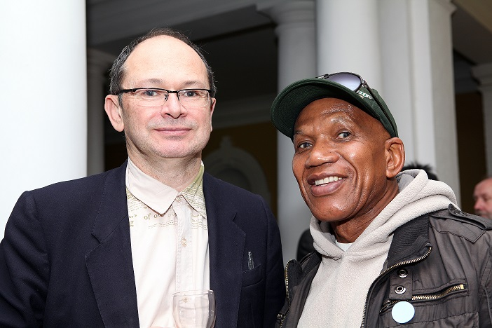 Against the Grain - Hayden Proud and Sipho Ndabambi, ISANG14 August 2013 (photo: C.Beyer Copyright Iziko Museums)