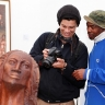 Against the Grain - Gerard Erasmus and Thami Kiti, ISANG14 August 2013 (photo: C.Beyer Copyright Iziko Museums)