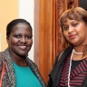Against the Grain - Phumeza Mgxasha and Kashiefa Millard, ISANG14 August 2013 (photo: C.Beyer Copyright Iziko Museums)