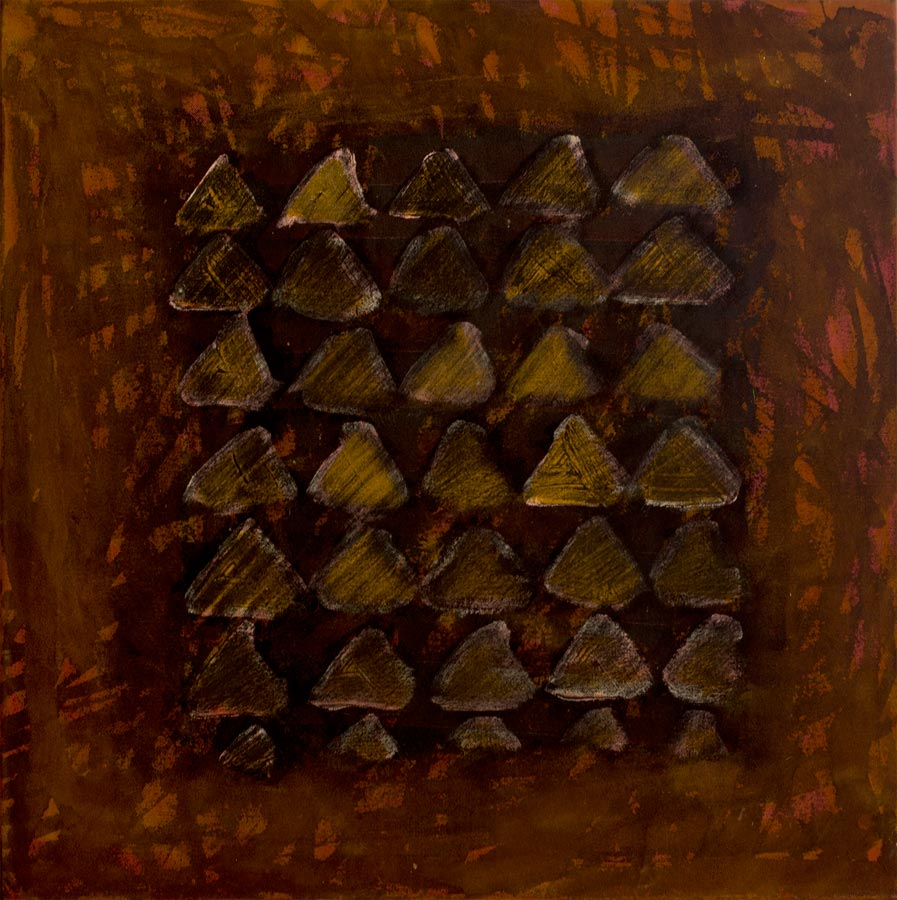 Old Naledi, 1995. Acrylic and charcoal on canvas, 50 x 50 cm (photo courtesy the artist)