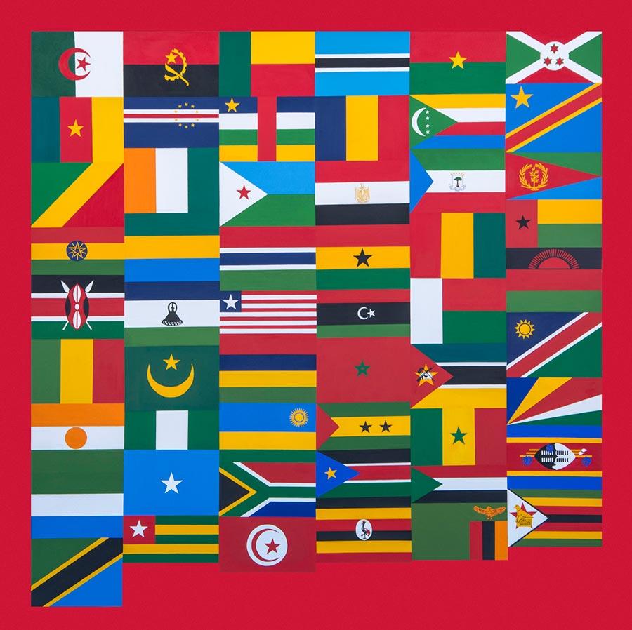 AFRICA-54 (1), 2013. Acrylic on canvas, 200 x 200 cm (photo courtesy the artist)