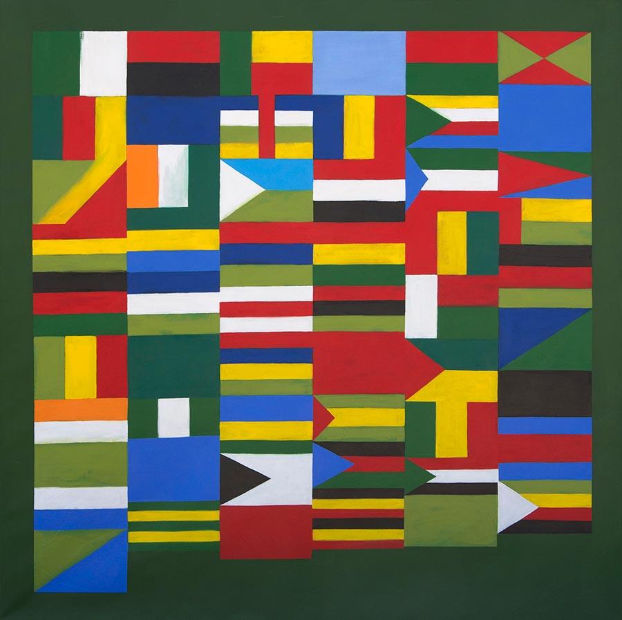 AFRICA-54, 2013. Acrylic on canvas, 200 x 200 cm (photo courtesy the artist)