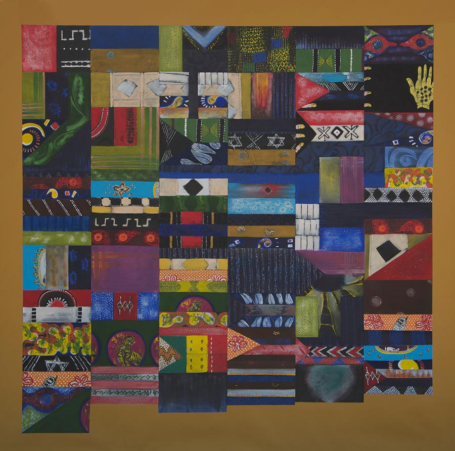 AFRICA-54 (3), 2013. Acrylic on canvas, 200 x 200 cm (photo courtesy the artist)