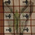 Angel, 2007. Lino-cut on fabric, 25 x 25 cm (photo courtesy the artist)