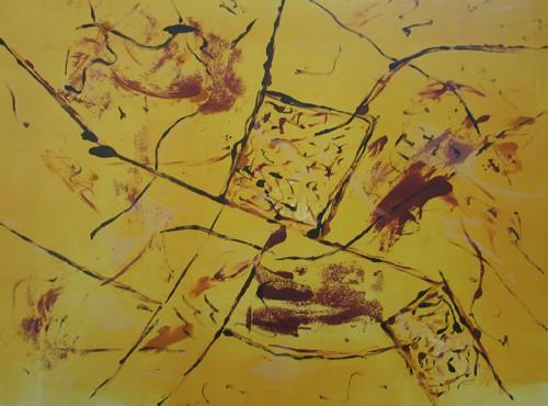 Landmarks 1, 2006. Monotype, 56 x 77cm