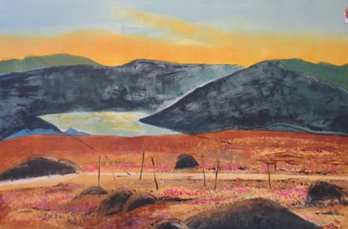 Landmarks VIII - The Sacred Ground, 2006. Monotype on paper, 56 x 77 cm