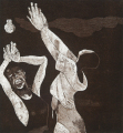 Daughters of the Earth I, 2004. Etching on paper, 41 x 36 cm