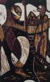 Spirit of Creation, 2004. Linocut on paper, 40 x 30 cm