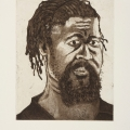 <em>The Poet - self portrait</em>, 2006. Aquatint burnishing and drypoint etching, 25 x 20 cm