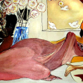 Reclining Lady, 2005. Oil and acrylic on canvas, 110 x 75 cm. Artist's collection (Photo courtesy of the artist)