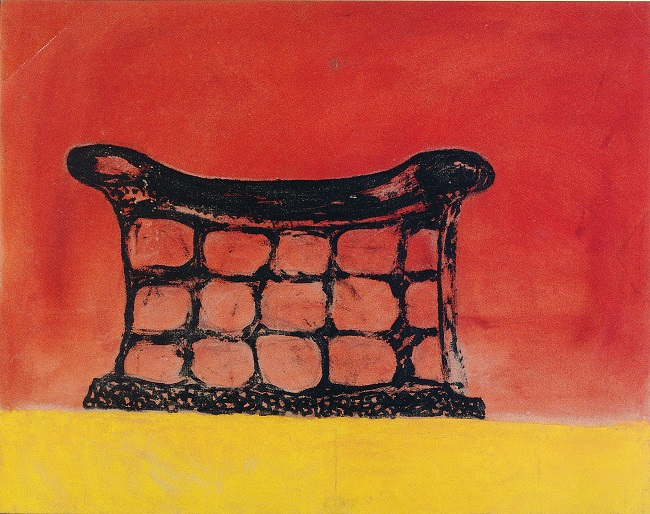 Artist Unknown: At the End of the Day, 1992. Acrylic on canvas (Source: Godby, M. Is there still life?)