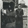 Women Leaders (Dedicated to Mrs Winnie Mandela and all S.A. Women Leaders), 1983. Linocut print, 32 x 28 cm