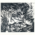 The state of the 80s - Car Bomb Triptych, 1989. Linocut prints,  23 x 27 cm each