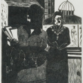 Women Leaders (Dedicated to Mrs Winnie Mandela and all S.A. Women Leaders), 1983. Linocut print, 32 x 28 cm
