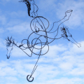 A Horse of a Different Colour, 2011. Wrought stainless steel. Everard Read Contemporary, Johannesburg (Photo courtesy of the artist)