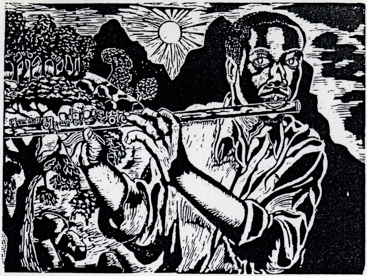 Vuyile Yoyiya. The Sun Will Rise, 1986. Linocut