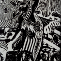 Billy Mandindi. Prophecy II, 1985. Linoleum relief print.