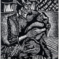 Vuyisani Mgijima. Waiting Women, 1989. Linocut