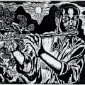 Vuyile Yoyiya. The Sun Will Rise, 1986. Linocut