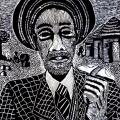 Thabo Magobiyane. From Hope to Emogodini, 1990. Linocut, 42.2 x 29.5 cm