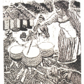 Mashabalala Mkonto. Eulla Nontembiso Mkonto — My Culture, 1993. Linocut, 29 x 21.7 cm. University of the Witswatersrand Art Galleries, Johannesburg