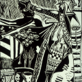 Billy Mandindi. Prophecy III, 1985. Lino relief print