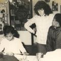 Saturday morning art class, 1978
