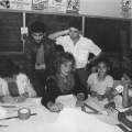 Children look in on CAP workshop, c. 1985