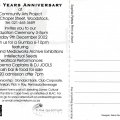 CAP 25 Year Anniversary invitation (back), 2002.