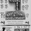 CAP Invite - Discussion Forums - Visual Arts , Education and Development, September 1993. (Source: UCT Humanitec Digital Collections)