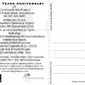CAP 25 Year Anniversary invitation (back), 2002.