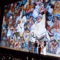 Mashabalala Mkonto, Sophie Peters, Xolile Mtakatya, Trish De Villers and Tshidi Sefako, 1995. Unveiling of Mural (fire curtain), Nico Malan Theatre, Capab (Photo: M Pissarra)