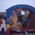 Khanya Mehlo, Liza Jacobs, Ernest Fulani and Shakes Tembani. Mural, Facilitators: Sipho Hlati and Tony Mhayi, Gugulethu Indoor Multisport Complex Mural