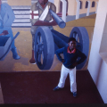 Billy Mandini and Sophie Peters. Mural. Community Art Project