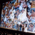 Mashabalala Mkonto, Sophie Peters, Xolile Mtakatya, Trish De Villers and Tshidi Sefako, 1995. Unveiling of Mural (fire curtain), Nico Malan Theatre, Capab (Photo: M Pissarra)