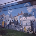 Sharief White, Desiree Kok and Velile Soha, c. 1996. Mural, District Six (Photo: M Pissarra)