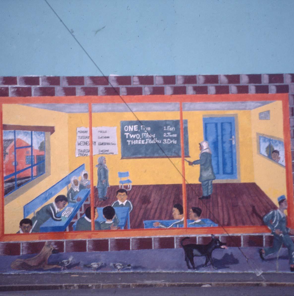Mural, 1995. Facilitator: Mary Visser. Primary School, Woodstock (Photo: M Pissarra)