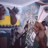 Mural, Community House, 1987
