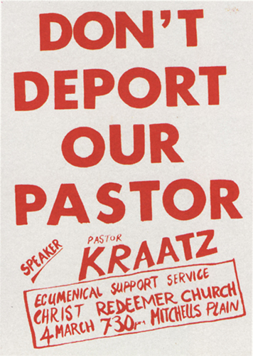 CAP Poster - CAP for Lutheran Youth, 1985. Silkscreen poster (Source: The Posterbook Collective of the South African History Archive. 1991. Images of Defiance: South African Resistance Posters of the 1980. Braamfontein: Ravan Press)