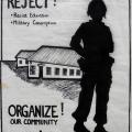 CAP Poster - CAYCO (Cape Youth Congress) at CAP, 1984. Silkscreen poster (Lionel Davis, Trish de Villiers, Annette Loubser)