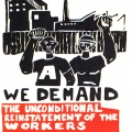 CAP Poster - Saldanha Youth Congress at CAP, 1986. Silkscreen poster (Source: The Posterbook Collective of the South African History Archive. 1991. Images of Defiance: South African Resistance Posters of the 1980. Braamfontein: Ravan Press)
