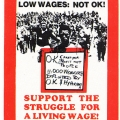 CAP Poster - CCAWUSA (Commercial, Catering & Allied Workers' Union of South Africa) at CAP, 1987. Silkscreen poster