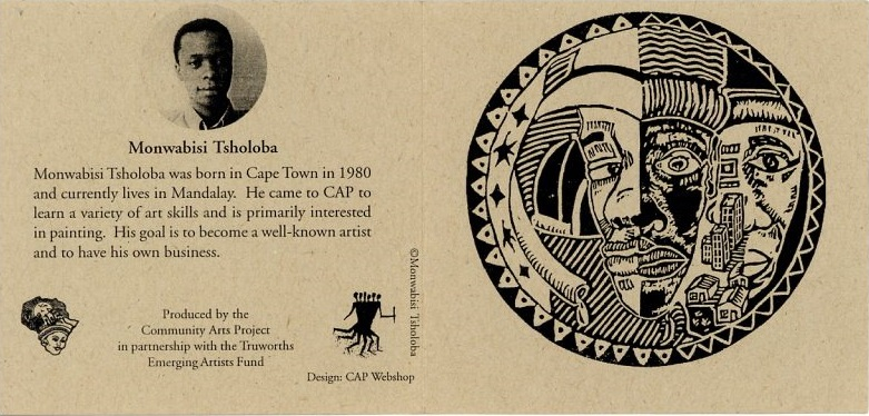 Promotional card (Monwabisi Tsholoba), c. 2000