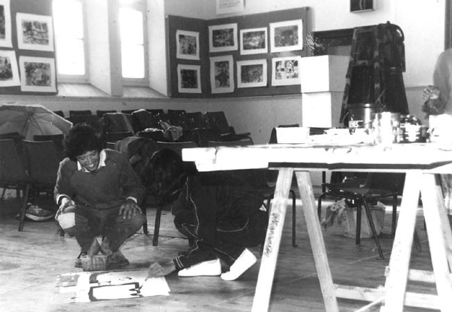 CAP visual art workshop, 1988. CAP, Chapel Street, Woodstock