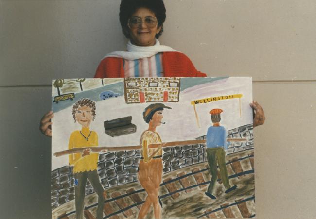 CAP visual art workshop student, 1988. CAP, Chapel Street, Woodstock