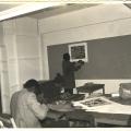 Tyrone Apollis, Bongani Shange, Lionel Davis and Mphati Gocini, 1978. CAP print making studio